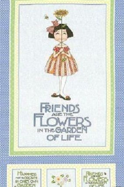 Friends & Flowers Bluebell Quilt Fabric Panel