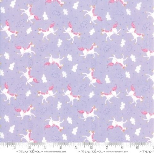 Once Upon A Time Lavender Unicorns Quilt Fabric