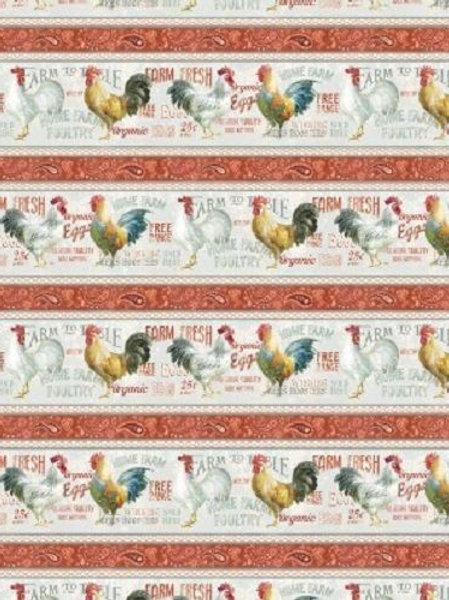 Farm Fresh Stripe Early To Rise Quilt Fabric