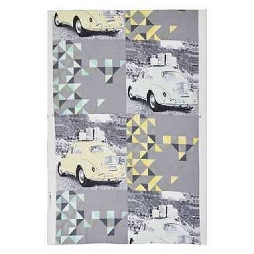 Volkswagons Beetles Retro Quilt Fabric Panel