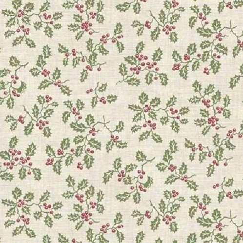 Balmoral Christmas Holly Quilt Fabric