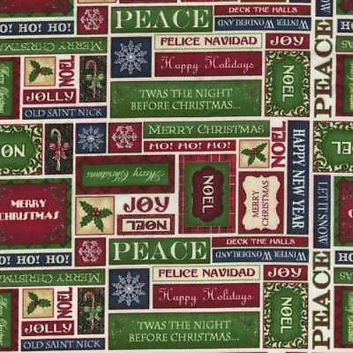 Christmas Elegance Quilt Fabric