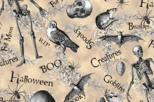 All Hallows Eve Goblins Beasties Halloween Quilt Fabr