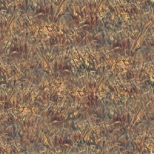 Wild Pheasants Grass Landscape Quilt Fabric