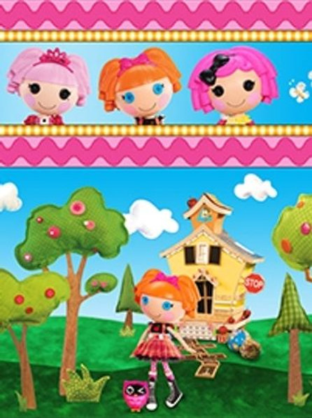 LaLaLoopsy Dolls Stripe Quilt Fabric