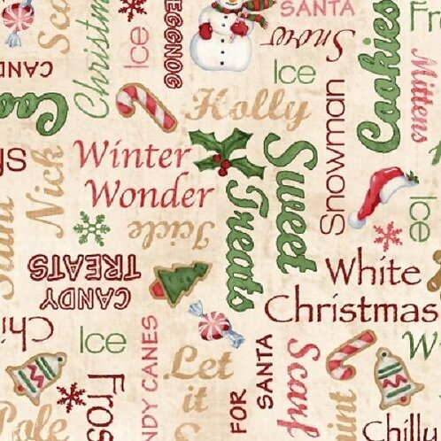 Home For The Holidays Sweet Treats Christmas Quilt Fabric