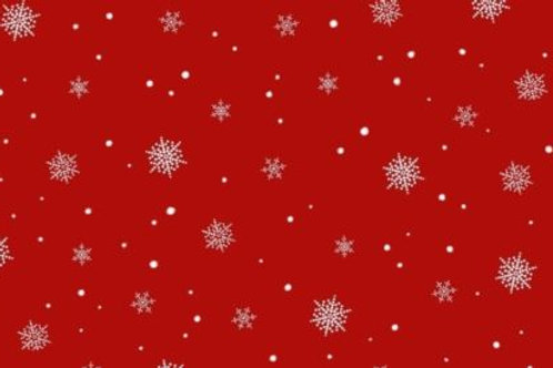 A Christmas To Remember Red Snowflakes Quilt Fabric