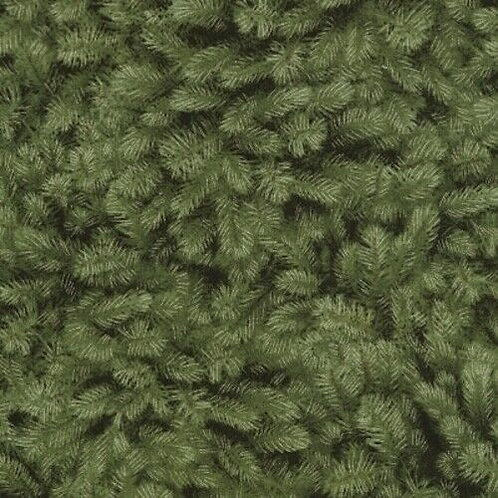 A Very Merry Christmas Pine Boughs Quilt Fabric