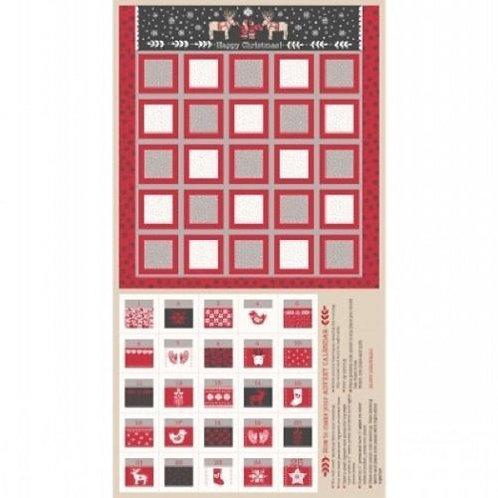 When I Met Santa's Reindeer Advent Calendar Fabric Panel