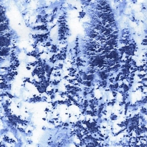 Snowy Pines Winter Landscape Quilt Fabric