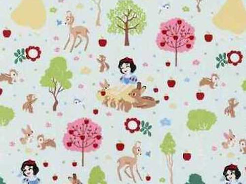 Snow White Deer Apples Quilt Fabric