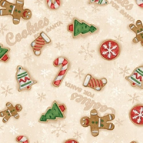 Home For The Holidays Gingerbread Cookies Christmas Quilt Fabric