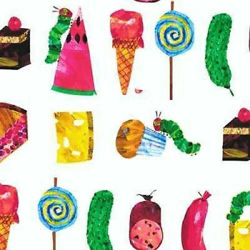 The Very Hungry Caterpillar Foods and Treats Quilt Fabric