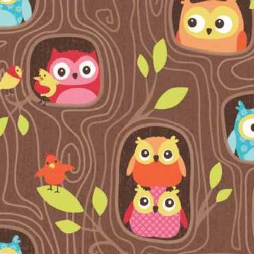 Happy Flappers Owls Quilt Fabric
