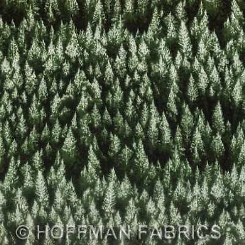 Woodsy Winter Pine Trees Landscape Quilt Fabric