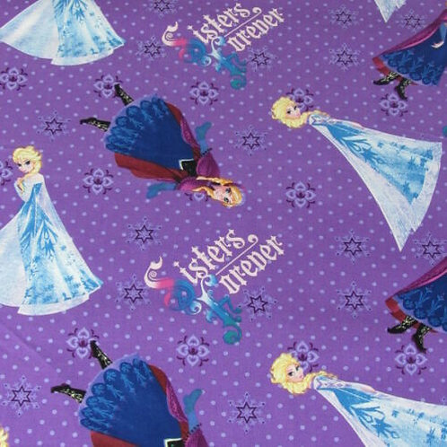 Frozen Ana Elsa Sisters Forever Quilt Fabric