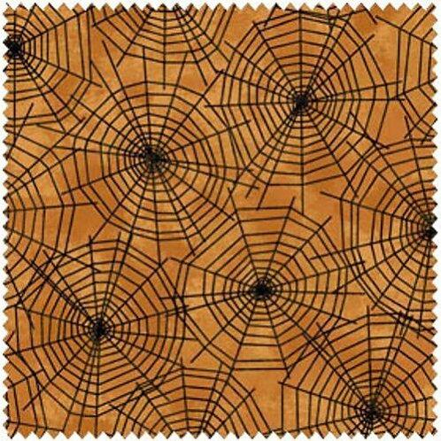 Black Cat Crossing Halloween Quilt Fabric