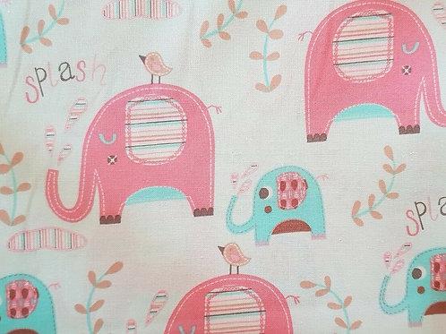 Sweet Ellies Elephants Quilt Fabric