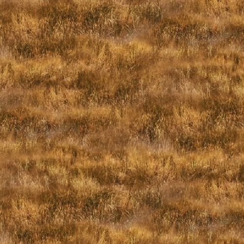 Greener Pastures Brown Grass Landscape Quilt Fabric