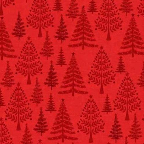 Scandi Christmas Trees Quilt Fabric