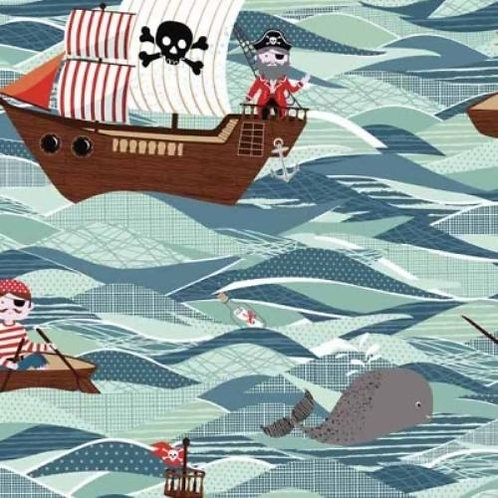 Pirates Of The Sea Quilt Fabric
