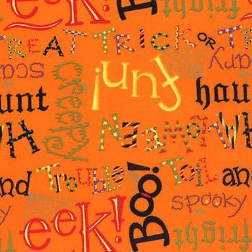 Happy Howloween Spooky Words Halloween Quilt Fabric