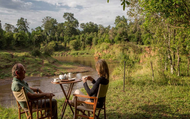 scenic river view in Africa
