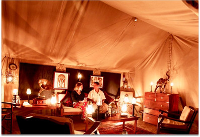 luxurious camping experience