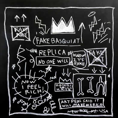 Fake Basquiat Replica, 2017