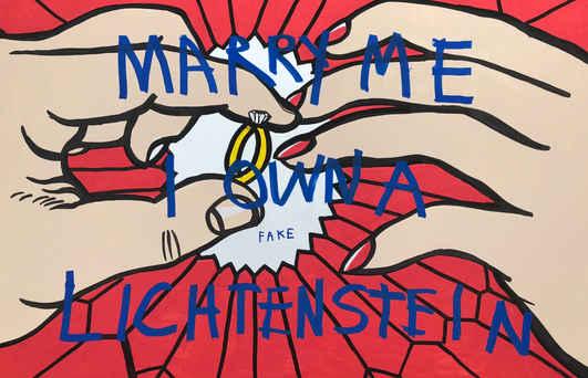 Marry me I Own a Lichtenstein, 2018