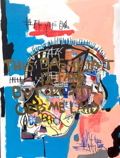 This Basquiat is Fake But It still Gets me Laid, 2017