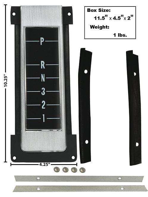 1968-72 Chevelle Console Trans Indicator Insert