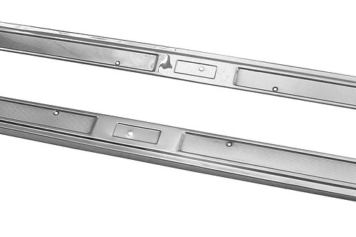 1969-70 Ford Mustang Door Sill Scuff Plates - Stainless