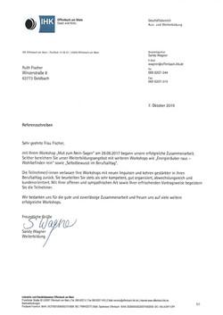 Referenz IHK Offenbach -Ruth Fischer