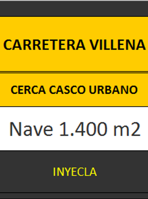 NAVE 1.400 M2 CTRA. DE VILLENA