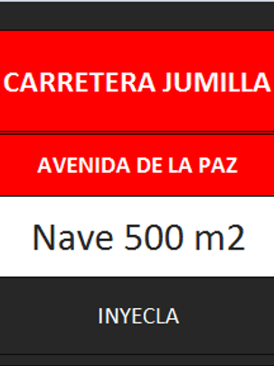 NAVE 500 M2. CTRA. DE JUMILLA.