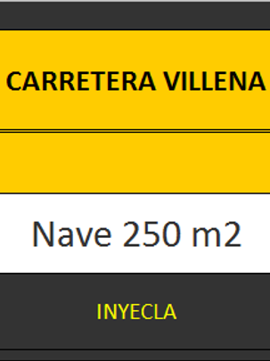 NAVE 250 M2. CTRA. VILLENA.