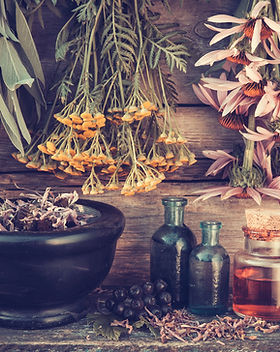 Vintage Stylized Photo Of  Healing Herbs