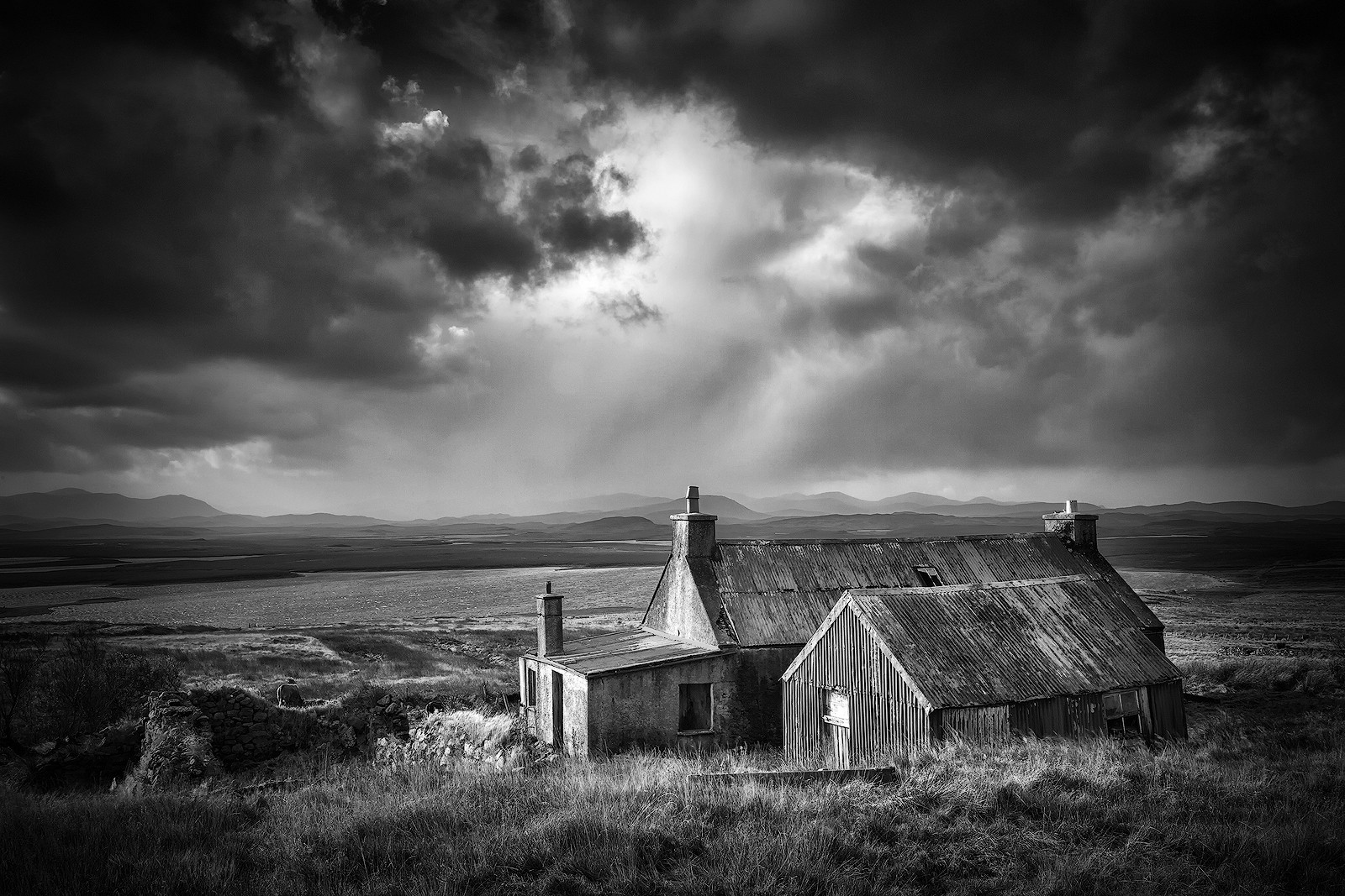 MONO - Harris Derelict Cottage by Colin Ross (11 marks)