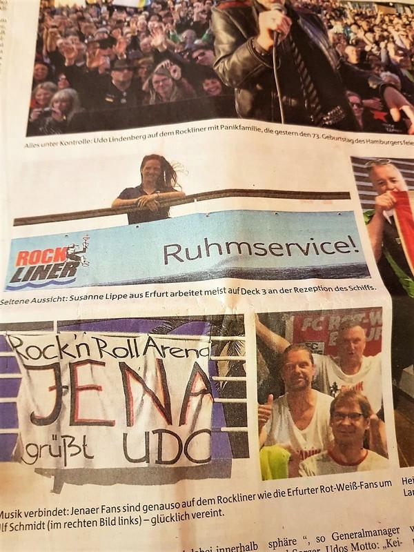 Zeitungsartikel der Thüringer Allgemeine über den Rockliner auf der MS1