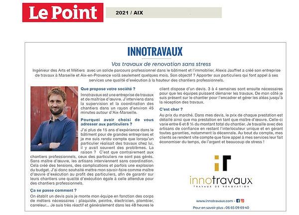 Article de presse Le Point Innotravaux.j
