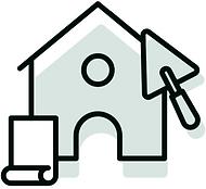 pictogramme maison a rénover