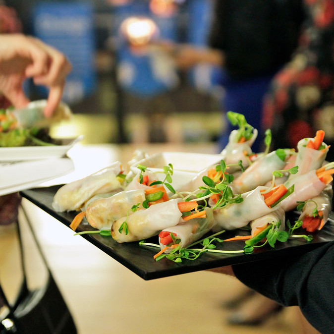 "Rice Paper Roll at Encore Catering in Partnership with HIGH BAR - HIGH BAR Hospitality & Event Group Inc. is Canada's first luxury cannabis event company, creating a premier full-service experience that everyone can enjoy (from someone who's never smoked to your seasoned ""toker""). With our experience and knowledge immersed in the event industry for over 25 years, the introduction of legal cannabis presented the perfect opportunity to create a high class event company featuring cannabis in its many wonderful forms.  Our mission is simple, provide clients with cannabis experience presented in a classy and high-end fashion. We've partnered with some of the best names in the events and cannabis industries, so that we can provide the highest quality service for any occasion.  We are committed to cannabis education, safety, and providing a responsible experience. www.HighBarToronto.com 19+ info@HighBarToronto.com 🇨🇦   #bartender #budtender 