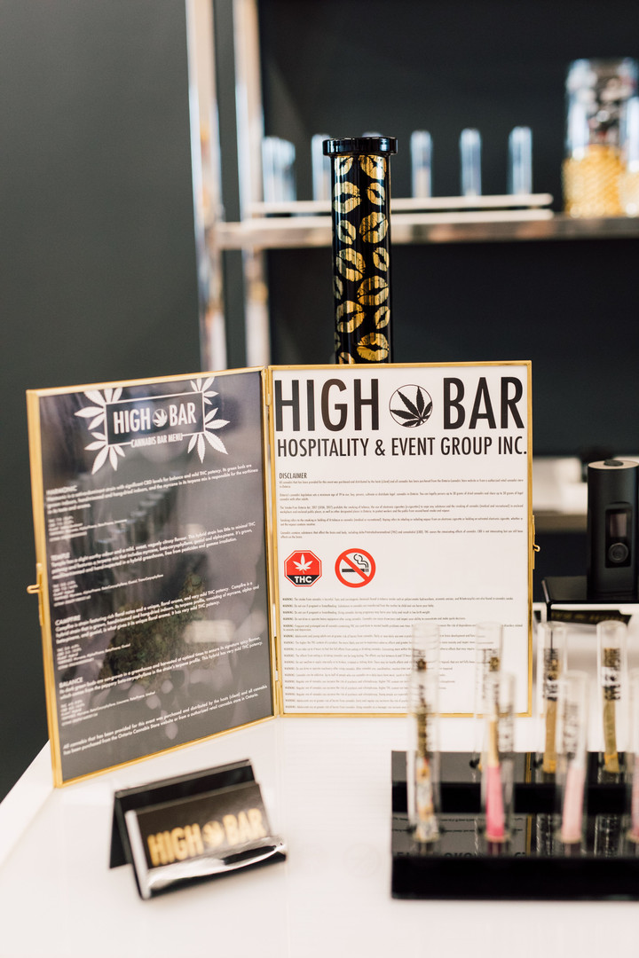 "HIGH BAR Hospitality & Event Group Inc. is Canada's first luxury cannabis event company, creating a premier full-service experience that everyone can enjoy (from someone who's never smoked to your seasoned ""toker""). With our experience and knowledge immersed in the event industry for over 25 years, the introduction of legal cannabis presented the perfect opportunity to create a high class event company featuring cannabis in its many wonderful forms.  Our mission is simple, provide clients with cannabis experience presented in a classy and high-end fashion. We've partnered with some of the best names in the events and cannabis industries, so that we can provide the highest quality service for any occasion.  We are committed to cannabis education, safety, and providing a responsible experience. www.HighBarToronto.com 19+ info@HighBarToronto.com 🇨🇦   budtend #budtender pre rolls vaporizer mobile cannabis bar live rolling event catering high class budtending luxury cannabis event CBD THC"