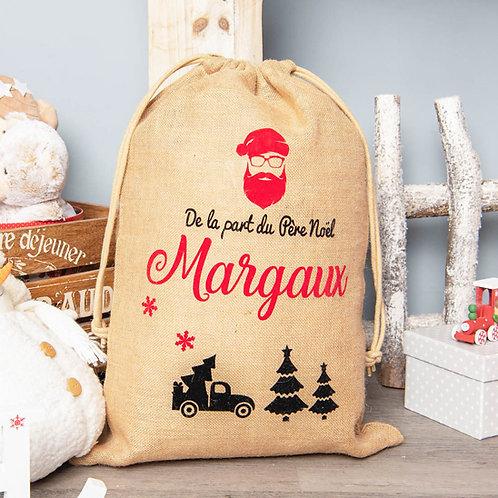 Sac de Noël Personnalisé - Le Père Noël est un Hipster XL😎