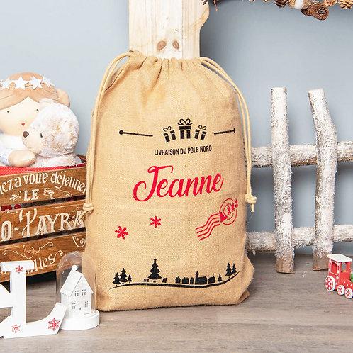 Sac de Noël Personnalisé - Village de Noël XL🎄