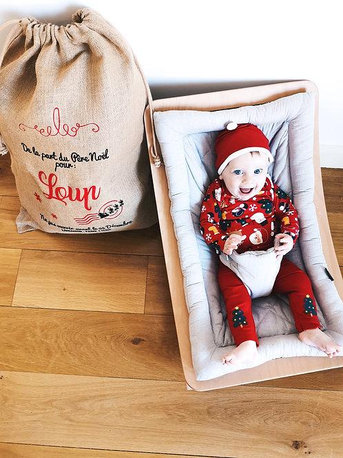 Sac de Noël Personnalisé - modèle Père Noël