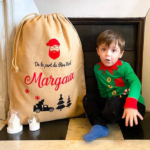 Sac de Noël Personnalisé - Le Père Noël est un Hipster XXL😎