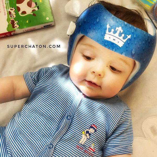 Stickers pour casque brachycéphalie, docband