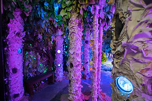 """""""SHIFT: Detail"""" Immersive Installation with Factory Obscura, this area paper tree forest, 2017."""